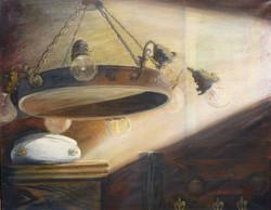 Melegi Zsuzsanna: Csillár (olaj-vászon) 40x50 cm