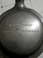 Német kórsó. Karl Friedlmeier fiókigazgató.