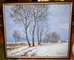 Halvax Gyula festmény