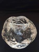 KOSTA BODA vastag falú kristályüveg mécses - Skandináv design tárgy
