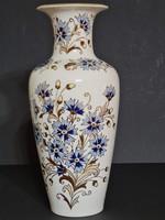 Zsolnay Búzavirág mintás váza 27 cm