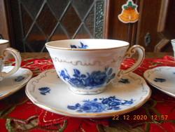 Zsolnay kék rózsás kávés csészék
