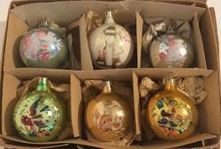 Régi, Retro karácsonyi üveg gömbök
