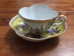 Antik kézzel festett porcelán csésze P307