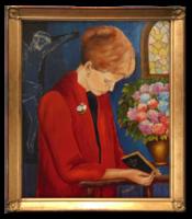 Fischer Fini: Imádság, 1984 - Nagyon szépen megfestett vallásos jelenetet megörökítő alkotás