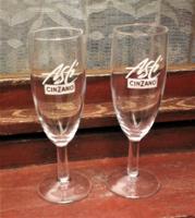 Pezsgős pohár párban Asti Cinzano, 17 cm