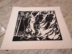 DERKOVITS GYULA (1893-1934) Dózsa sorozat VIII. fametszet 60x70 cm