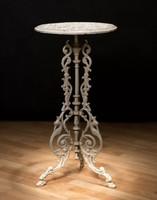 Öntöttvas asztal (fehér)