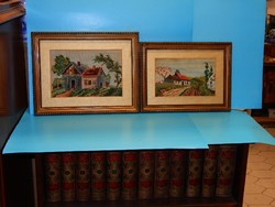 Két szép és kiváló állapotú  keret ajándék gobleinnel az 1930-as évekből