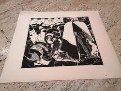 DERKOVITS GYULA (1893-1934) Dózsa sorozat VII. fametszet 60x70 cm