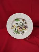 Szecesszíós stílusban festett tányér