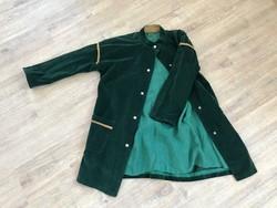 Vintage zöld kord bársony kabát
