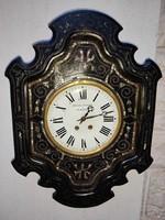 Francia fali óra,Contoise,Morbier , gyöngyház Bull stílusban,1800as évek .Claude Mayet