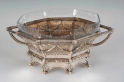 Ezüst nyolcszögű asztalközép