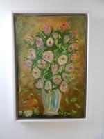 Festmény,,Virágcsendélet,