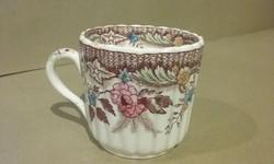 Angol porcelánfajansz mokkás csésze