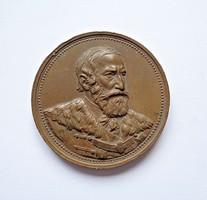 Tisza Kálmán miniszterelnöksége 1875-1885, bronz emlékérem, Körmöcbánya