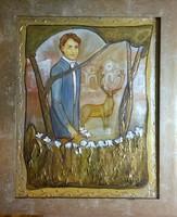 Legenda c.50x40 cm-es belső, és 64x54cm-es külső m. vászonkép műtermi áron.Károlyfi Zsófia Prima díj
