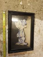 Valamelyik a hét törpe közül, akva, 15x24+saját, eredeti kerete, akvarell