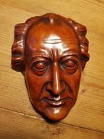 Ritkaság! Achatit Mozart arc/fej szobor 22,5cm -es régi lelzett kerámia