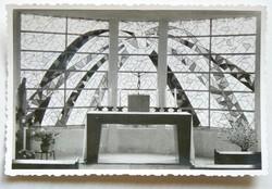 MECKLENBURG, OLTÁR, ÜVEGABLAK, FOTÓ 1963/64 , (9X13 CM) EREDETI