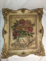 Vintage viasz csendélet nagy méretű színpompás fali dísz fali kép