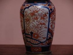 Távol-keleti mintázatú kézzel festett petróleum lámpa