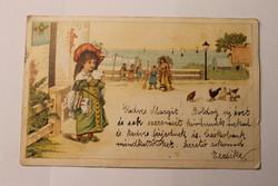 Antik levelezőlap, képeslap, újévi üdvözlőlap, 1903
