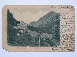 MAGAS TÁTRA, KÉSMÁRK,ZERGE-SZÁLLODA, FOTÓ 1900, KÉPESLAP (9X14 CM) EREDETI