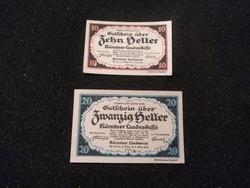 Hajtatlan 10-20 Heller pár 1920