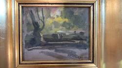 Ruzicskay György olaj festmény