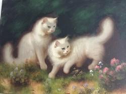 Óriás cicák festmény ---- Lepkéket kergetők.
