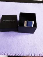 Baldessarini férfi ezüst gyűrű lapisz lazuli kővel!