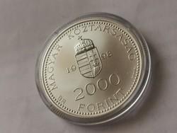 Integráció Hősök tere ezüst 2000 ft 31,46 gramm 0,925