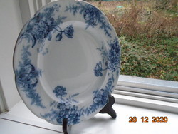"""19.sz Viktoriánus B.W.M.&Co Cauldon tányér """"Cosmopolite"""" virág mintával"""