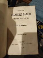 Toldy Ferenc:Kisfaludy Sándor minden munkái 1847 Pesten 3-4-es kötet egyben