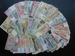50 darab külföldi bankjegy LOT - MIX !  01