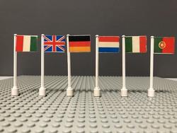 LEGO Legoland Zászlók a 70-es 80-as évekből 6db