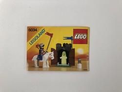 LEGO 6034 - Black Monarch's Ghost leírás összerakási füzet 1990 Castle