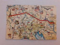 Régi képeslap 1964 MALÉV levelezőlap