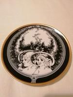 Hollóházi porcelán tányér