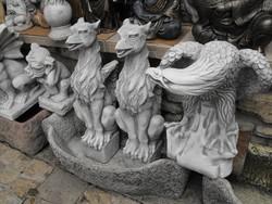 Ritka ! Fagyálló Minőségi Műkő Griff madár szobor Címer állat Nem sas  nem sárkány