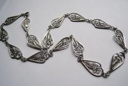 Antik filigrán ezüst nyakék