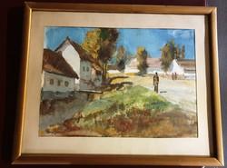 ROZS JÁNOS 1901 - 1987 Verőfényes napsűtés-