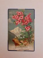 Régi képeslap virágos levelezőlap