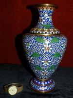 Régi kínai (Cloisonne ) váza