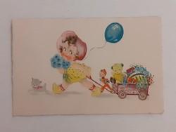 Régi képeslap 1942  rajzos levelezőlap