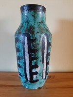 Gorka Lívia óceán zöld hibátlan váza 23 cm