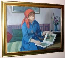 MÁCSAI ISTVÁN Munkácsy-díjas festőművész eredeti festménye (60 x 80; olaj-vászon)