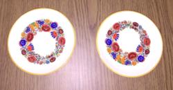 Retro virág mintás fali tányérok, 2db
